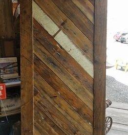 "Diagnal Pattern Cypress Barn Door 41"" X 82.5"""