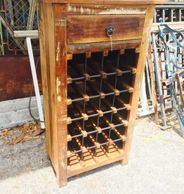 Reclaimed Wine Bottle Rack
