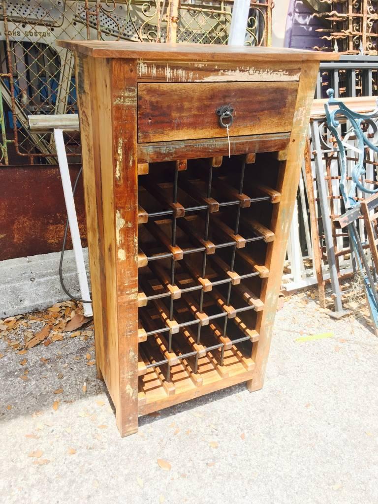 Reclaimed Wine Bottle Rack