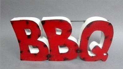 Tin BBQ w/ White Band
