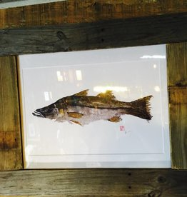 Reclaimed Wood Frame Tarpon Painting