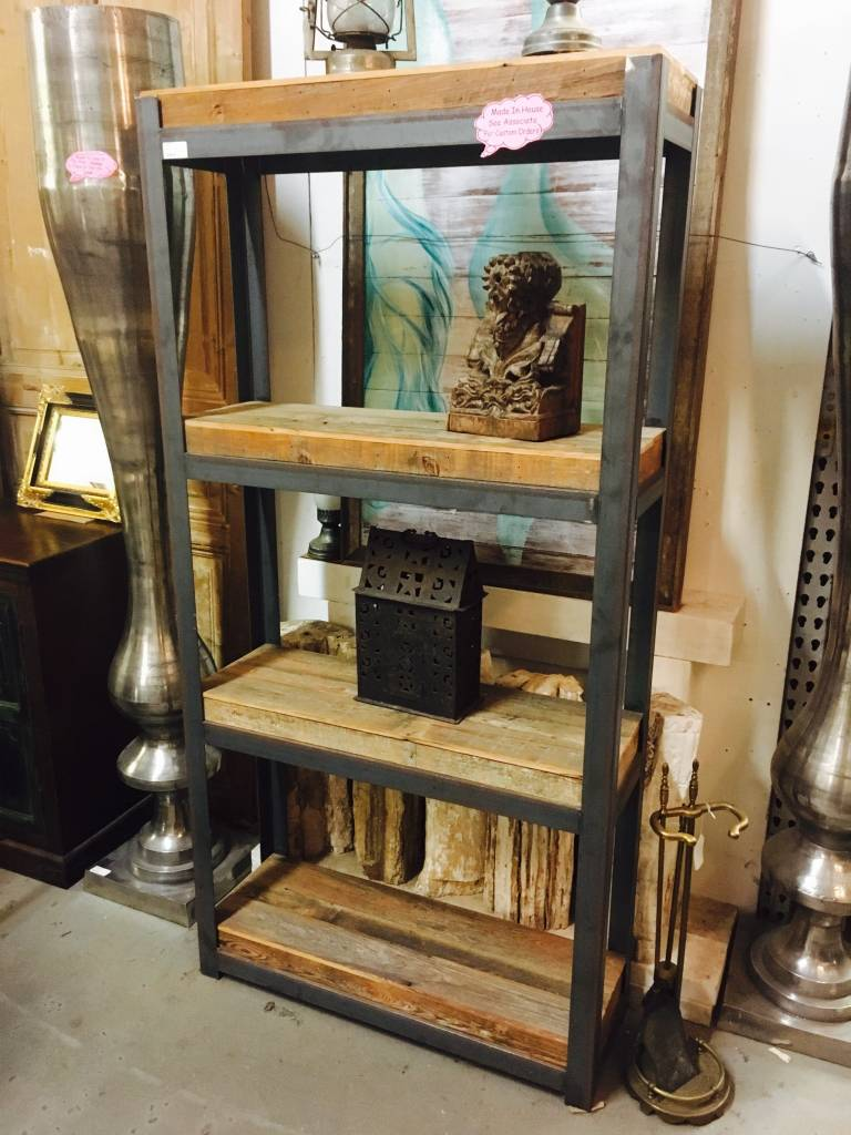 Reclaimed Cypress Iron Shelf