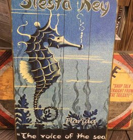Seahorse Wood Sign 14x24