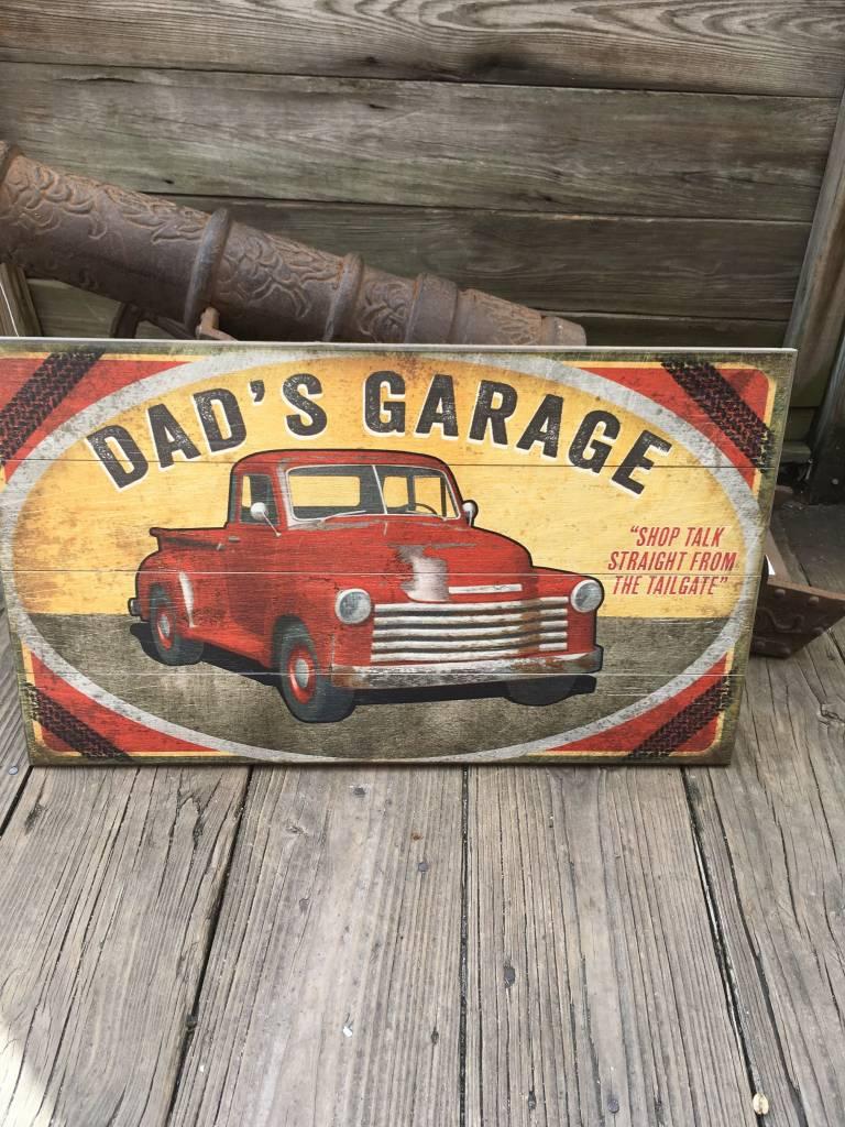 Dads Garage Sign 14x24