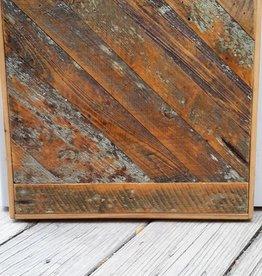Salvaged Cypress Angle and Straight Panel 19x20