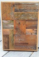 Salvaged Cypress Block Panel 12x17