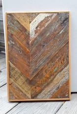 Salvaged Cypress Chevron Panel 12x17