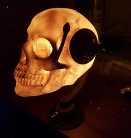 Steampunk Skull Desk Lamp