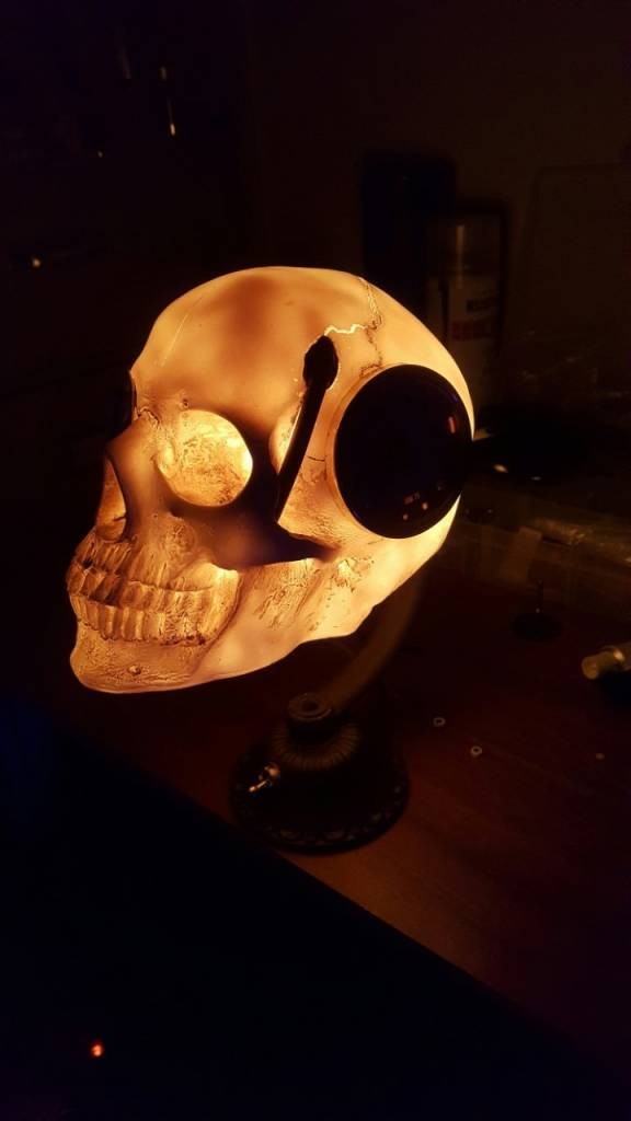Steampunk Skull Desk Lamp