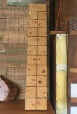 Salvaged Square Block Art Panel 7x38
