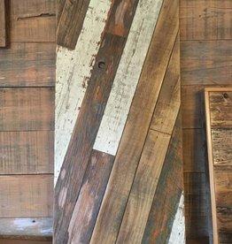Salvaged Cypress Diagonal Art Panel 13x28