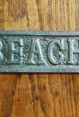 Vintage Green Beach Arrow Plaque