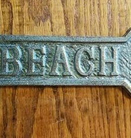 Vintage Green Beach Arrow Plaque