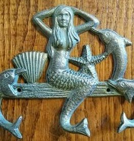 Vintage Green Mermaid Triple Hook