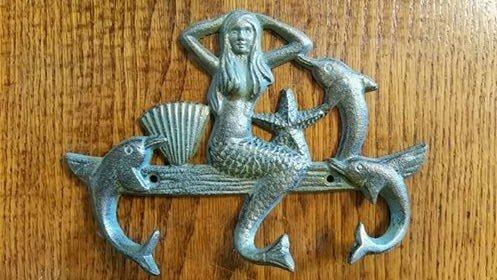 Vintage Green Mermaid Triple Hook