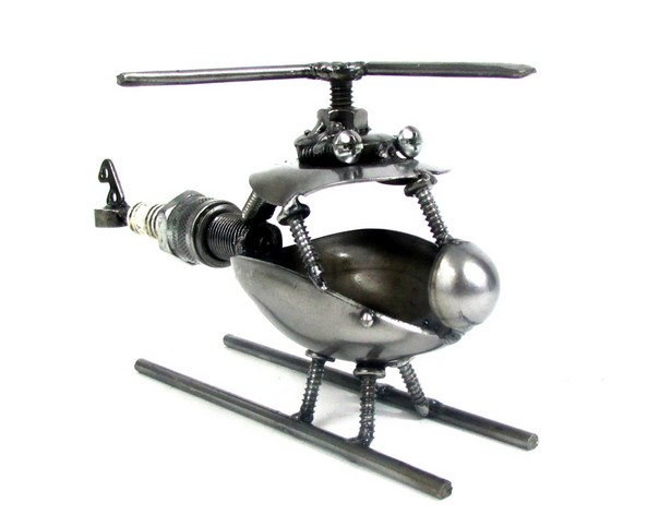 Spark Plug Helicopter