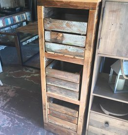 Cypress 3 Shelf Cubby Cabinet 54x15x17