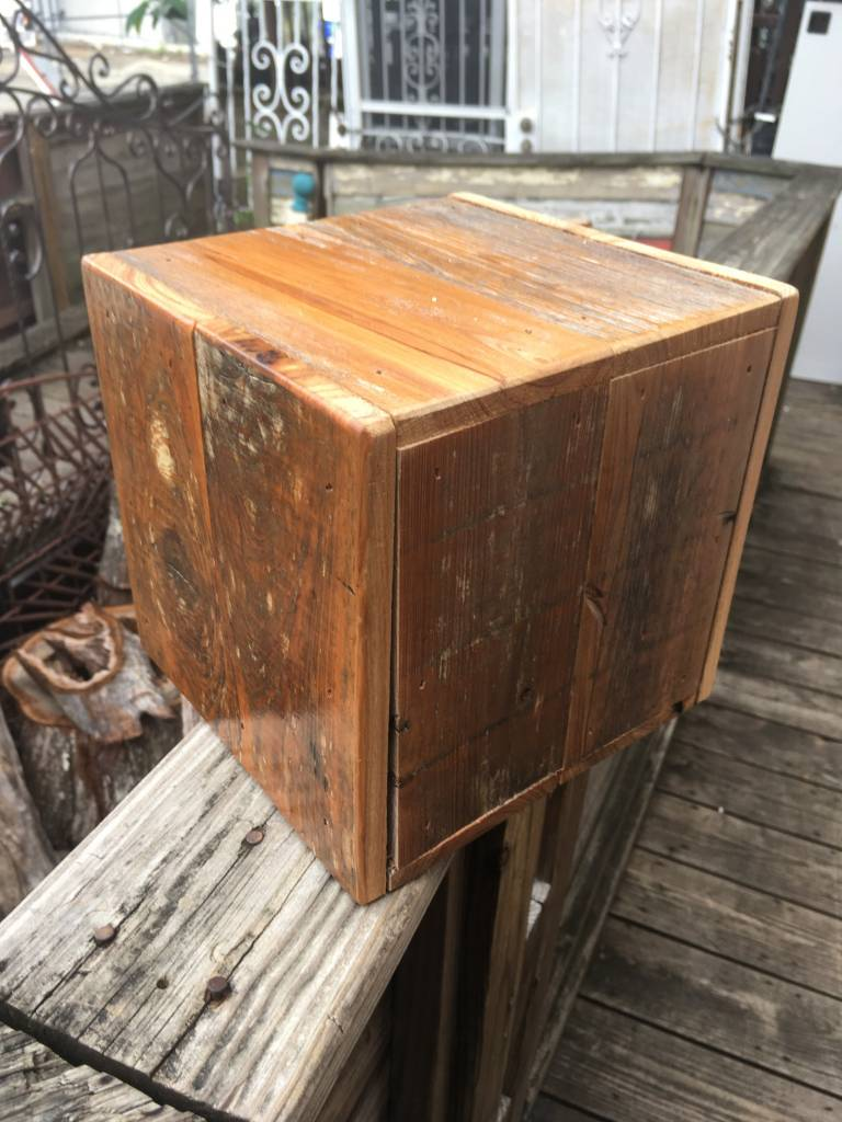 Reclaimed Cypress 10x10x10 Cube