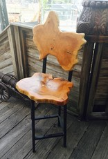 Live Edge Swivel Stool w/ Back