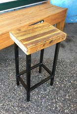 Cypress Straight Panel Stool 27x14x10