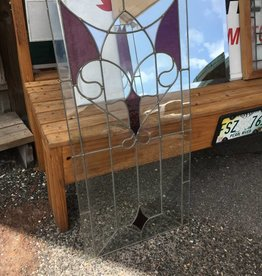 Unframed Heart Leaded Glass w/ Purple