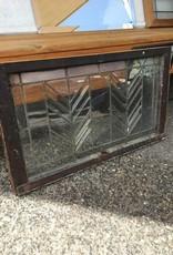 Framed Leaded Glass w/ Arrows