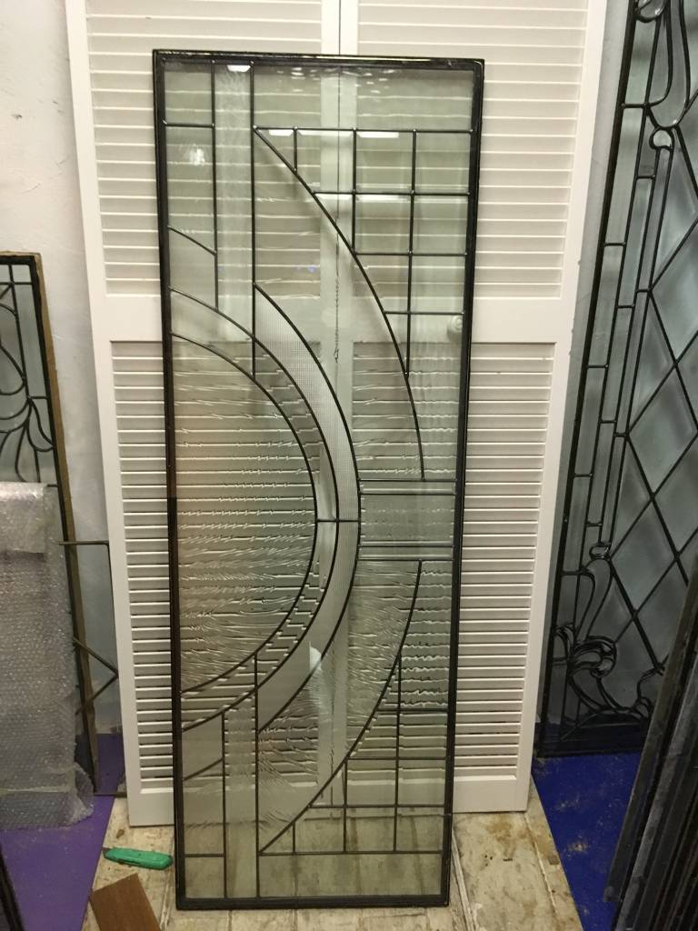 Leaded Glass Panel A 22x64