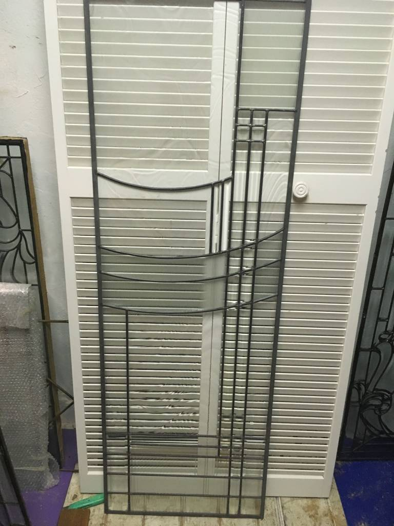 Leaded Glass Panel H 22x64