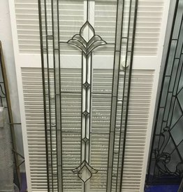Leaded Glass Window Panel K 22x64