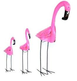 "SM Tin Flamingo 23"" H x 13.5"" L"