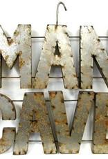 """ManCAVE Tin Sign 36""""H x 36""""L"""