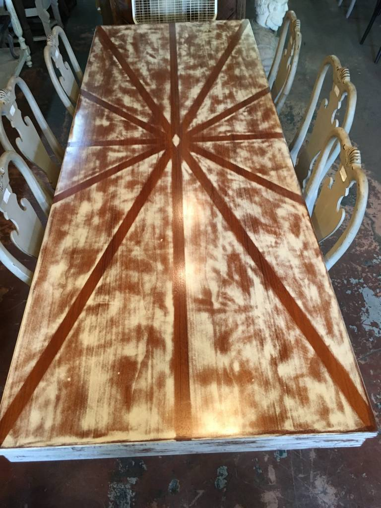 Shabby Burst Pattern Table 8x36