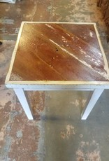 "Reclaimed Barn Wood Side Table 21.5"" X 21.5"" X 24.5"""