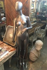 Silver Woman Mannequin w Stand