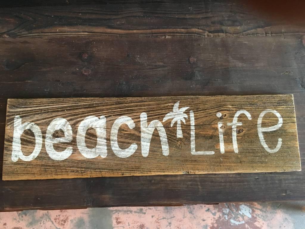 reclaimed beach life sign sarasota architectural salvage 1093