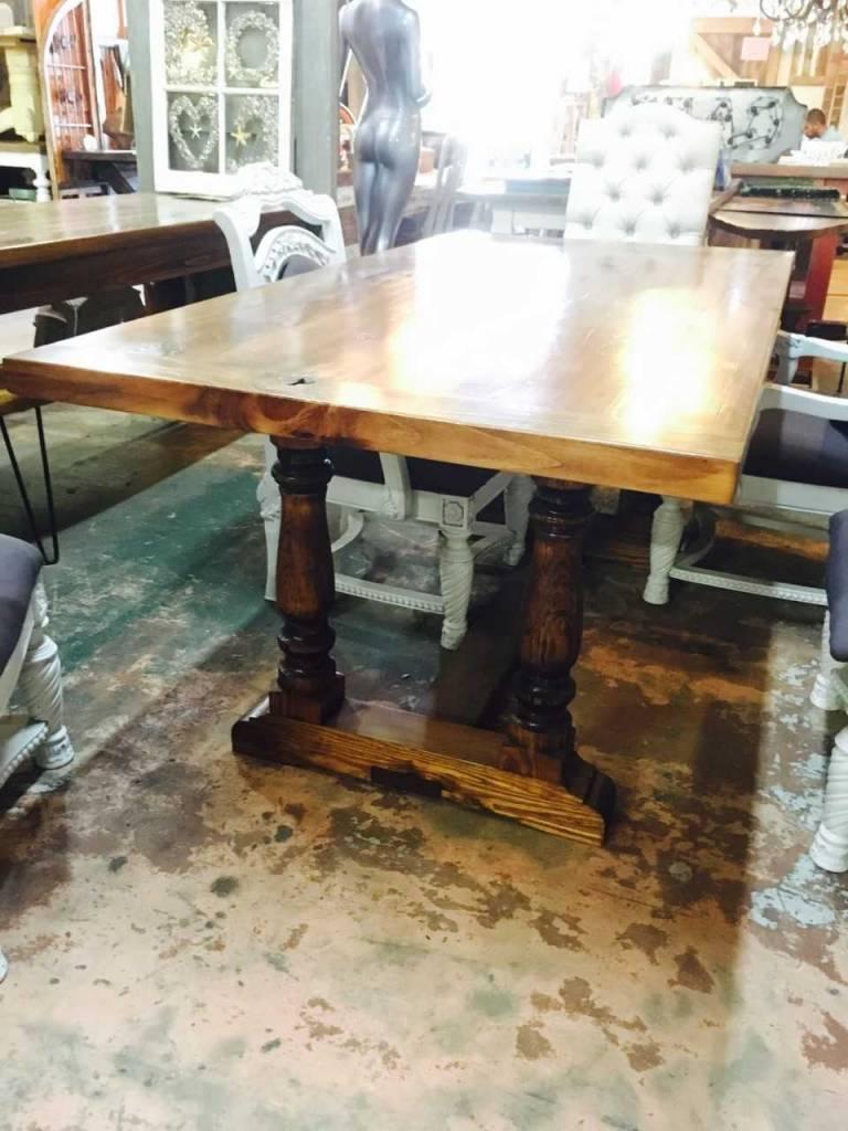 Trestle Base Cypress Table 6x36 ...