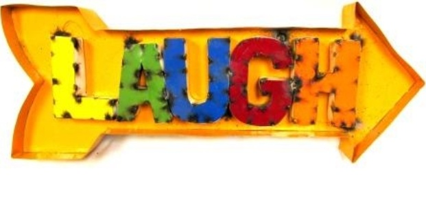 """Recess Arrow """"Laugh"""" 12""""H x 33""""L x 3""""W"""