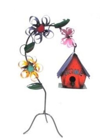 "Flower Hanging Birdhouse 22""H x 13""L"
