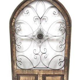 """Viterbo Wood Window 52""""H x 31""""L x 2""""W"""