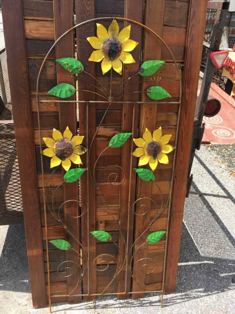 5 Sunflower Fence Trellis Sarasota Architectural Salvage
