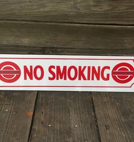 White No Smoking Ceramic Sign 5x24