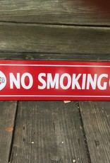 Red No Smoking Ceramic Sign 5x24