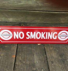 Red No Smoking Ceramic Sign 5x24