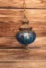 Blue Glass Ball Pendant Chandelier