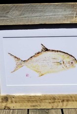 Reclaimed Wood Frame Yellow Fish Painting
