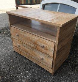 White Wash Cypress 2 Drawer Dresser 30x37x20