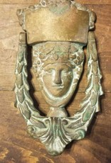 Brass Woman Face Door Knocker