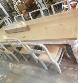 Gray Wash Pine Table 10' X 3'