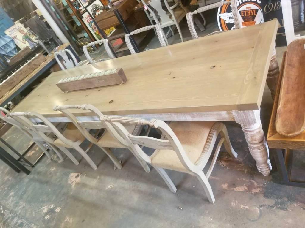 Gray Wash Cypress Table 10' X 3'