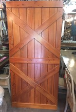 38x82 Cypress Double X Barn Door